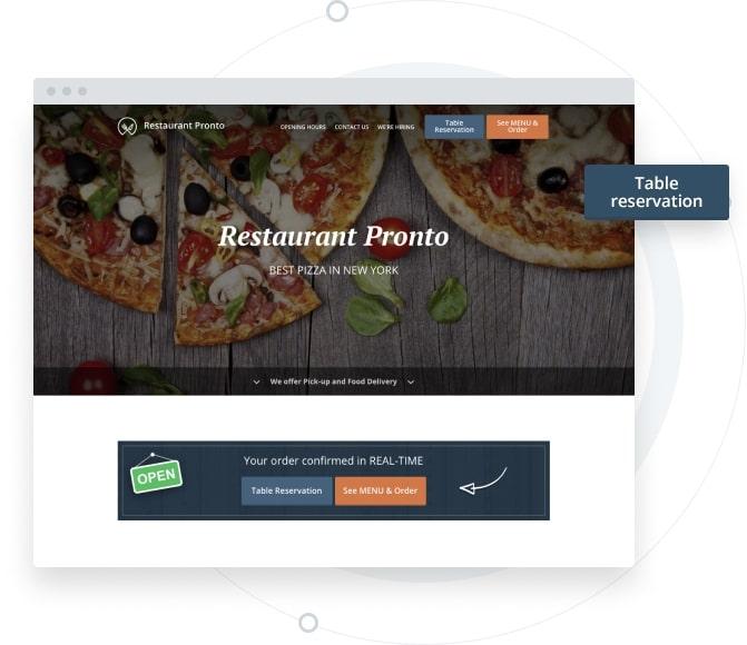 restaurant website builder